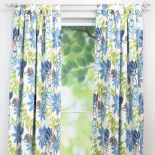 <strong>Chooty & Co</strong> Monaco Breeze Cotton Tab Top Curtain Single Panel