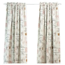Postale Cotton Rod Pocket Curtain Single Panel