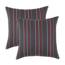 <strong>Chooty & Co</strong> Multi Stripe Self Backed Fiber Pillow (Set of 2)