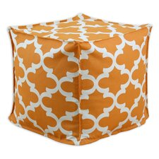 <strong>Chooty & Co</strong> Fynn Cinnamon Macon Square Seamed Pellet Hassock