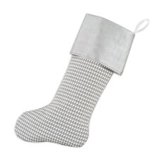 Houndstooth Storm Band Lined Trimmed Stocking