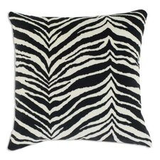 Zebra Down Fiber Pillow in Black