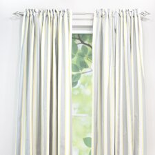 Lulu Storm Cotton Rod Pocket Curtain Single Panel