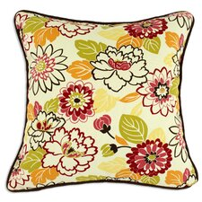 Maya Poppy Corded Cotton Pillow