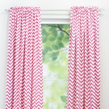 <strong>Chooty & Co</strong> Zig Zag Rod Pocket Curtain Single Panel