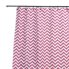 Zig Zag Candy Standard Cut Corded Cotton Shower Curtain