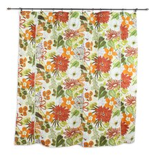 Lilith Marigold Cotton Shower Curtain