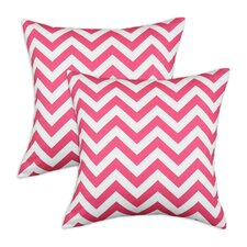 <strong>Chooty & Co</strong> Zig Zag Cotton Pillow (Set of 2)