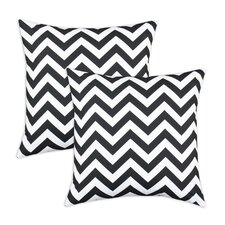 Zig Zag Cotton PillowSet of 2)