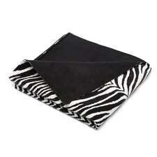 Zebra Microsuede Topstitched Throw