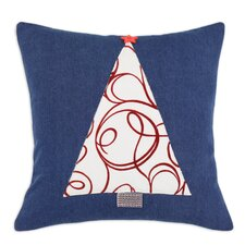 Denim Joker Scarlet Tree Pillow