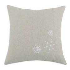 Linen Natural 3 Embroidered Snowflake Pillow