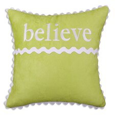 "Passion Suede ""Believe"" Pillow"