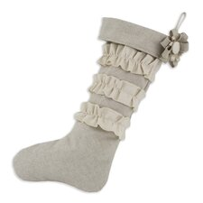 Linen Natural Saxony Ruffles Stocking