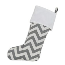 Zig Zag Lined Trimmed Stocking