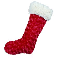 Rosebud Simply Soft-Shaggy Lined Stocking