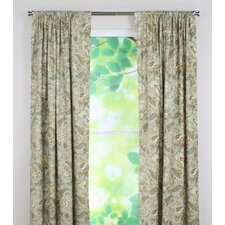 Valdosta Mist Tab Top Rod Pocket Curtain Single Panel