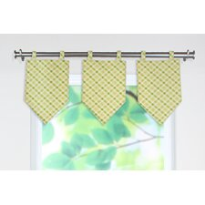 Chit Chat Cotton Tab Top Curtain Valance