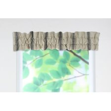 "Palais Rod Pocket Ruffled Sleeve Topper 54"" Curtain Valance"
