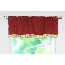 <strong>Chooty & Co</strong> Circa Solid Rod Pocket Ruffled Curtain Valance
