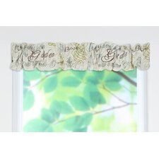 <strong>Chooty & Co</strong> Chatsworth Cotton Blend Sleeve Topper Curtain Valance