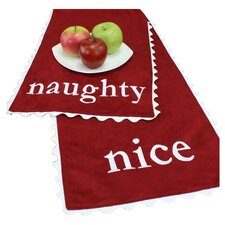 "<strong>Chooty & Co</strong> Passion Suede ""Naughty-Nice"" Table Runner"