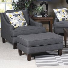 Catherine Arm Chair and Ottoman