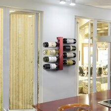 8 Bottle Wall Mounted Wine Rack