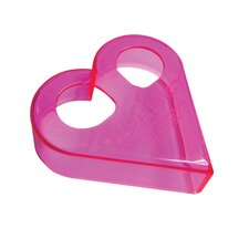 Sandwich Cutters Love Bites Translucent in Bright Pink