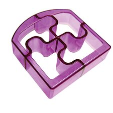 Sandwich Cutters Puzzle Bites Translucent in Purple *NEW*
