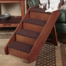 PupStep Wood 4 Step Pet Stair