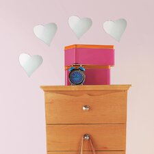 Wall Mirrors Heart Small Wall Decal