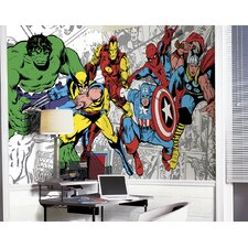 Prepasted Marvel Classics Character Wall Mural