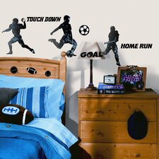 Studio Designs 23 Piece Sports Silhouettes Wall Decal Set