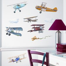 Studio Designs 22 Piece Vintage Planes Wall Decal Set