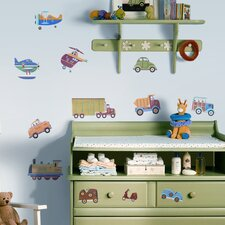 Studio Designs 26 Piece Transportation Wall Decal Set