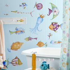 Studio Designs 35 Piece Sea Creatures Wall Decal Set