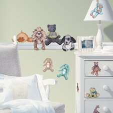 Studio Designs 23 Piece Cuddle Buddies Wall Decal Set