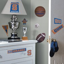 Collegiate Sports 22 Piece Appliqué Syracuse Orange Wall Decal Set