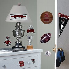 Collegiate Sports 24 Piece Appliqué North Carolina State University Wall Decal Set