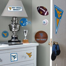 Collegiate Sports 27 Piece Appliqué West Virginia University Wall Decal Set