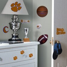 Collegiate Sports 26 Piece Appliqué Clemson Tigers Wall Decal Set