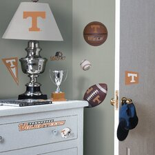 Collegiate Sports 24 Piece Appliqué Tennessee Volunteers Wall Decal Set