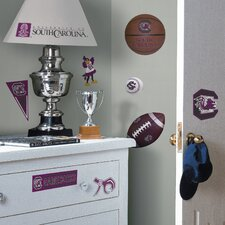 Collegiate Sports 22 Piece Appliqué South Carolina Gamecocks Wall Decal Set