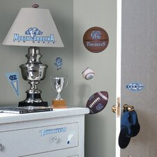<strong>Room Mates</strong> Collegiate Sports Appliqué UNC Tar Heels Wall Decal