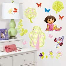 Favorite Characters 28 Piece Nickelodeon Dora the Explorer Wall Decal Set