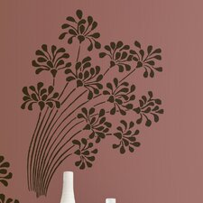 Room Mates Deco 2-Piece Flocked Floral Wall Decal