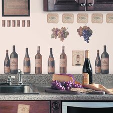 Room Mates 56 Piece Deco Wine Tasting Wall Decal Set