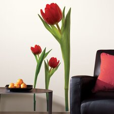 Room Mates Deco 3-Piece Tulip Wall Decal