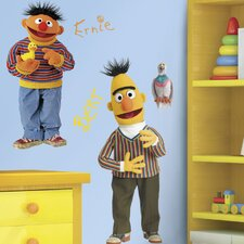 <strong>Room Mates</strong> Sesame Street Licensed Designs Burt and Ernie Giant Wall Decal